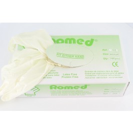 Romed Latexvrije Licht gepoederde handschoenen Soft +  - 5 dozen