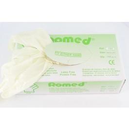Romed Latexvrije Licht gepoederde handschoen Soft + - overdoos van 10 pakjes a 100 st.