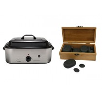 Hot Stone Eco Set: Grote Heater + 20 stenen