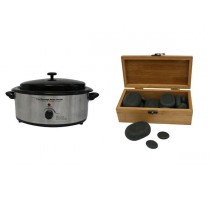 Hot Stone Eco Set: Kleine Heater + 20 stenen
