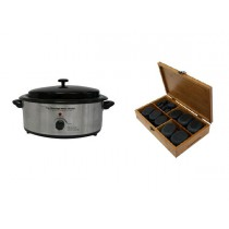 Hot Stone Eco Set: Kleine Heater + 50 stenen