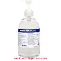 Maniskin Plus Hand Desinfectie Gel -  500 ml