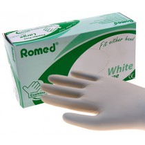Romed MEDICAL ECO glove wit - Latexvrij Poedervrij - 10 DOOSJES