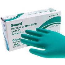 Romed MEDICAL glove groen - Latexvrij Poedervrij - 10 DOOSJES