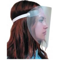 Praktivak Protecta gezicht scherm (face-shield) -  met elastische band en clips