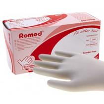 Romed Latex Poedervrije handschoenen - overdoos met 10 pakjes a 100 st.