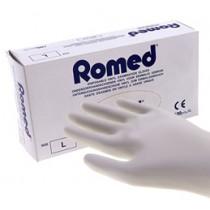 Romed Vinyl licht gepoederde handschoenen - overdoos met 10 pakjes a 100 st.