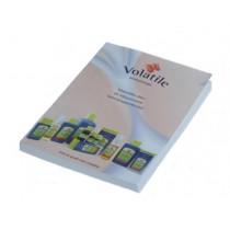 Volatile product informatie boekje